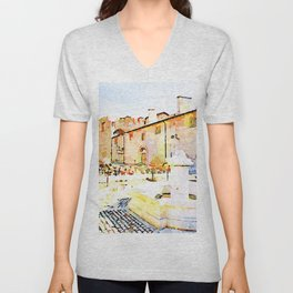 L'Aquila: church destroyed by the earthquake Unisex V-Neck