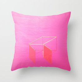 Little Boxes Exploded fuchsia & gold Throw Pillow