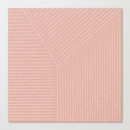 Lines (Blush Pink) Canvas Print