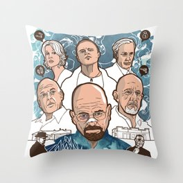 Breaking Bad: The Good, The Bad & The Ugly Throw Pillow