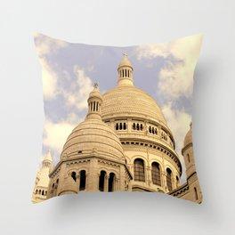Sacre Coeur Throw Pillow