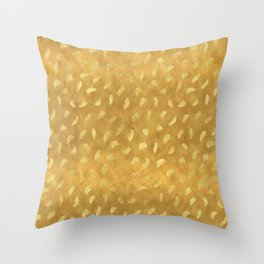 Pretty Gold Glam Abstract Throw Pillow
