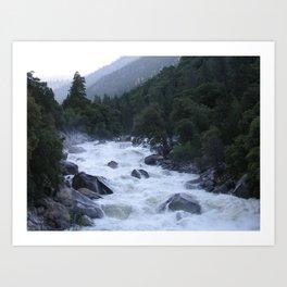 Yosemite Raging River Art Print
