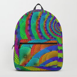 organic textured amorphous color spiral Backpack