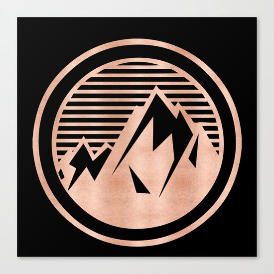 THE MOUNTAIN Rose Gold Canvas Print