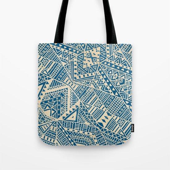 Tribal (blue)  Tote Bag