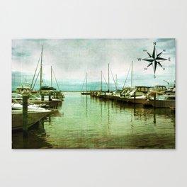 Rock Hall Marina Canvas Print