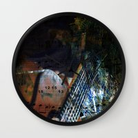 blues Wall Clocks featuring Blues by  Agostino Lo Coco