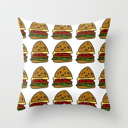 Ham Burger Throw Pillow