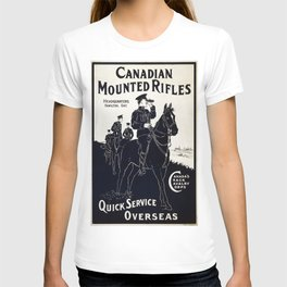 Vintage poster - Canadian Mounted Rifles T-shirt