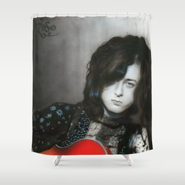 'Jimmy Page' Shower Curtain
