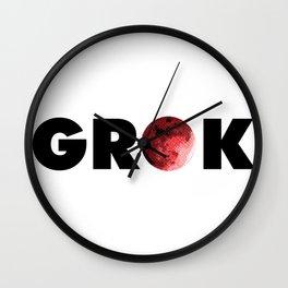 Grok It Wall Clock