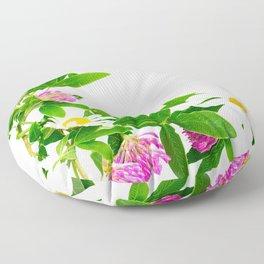 Summer Meadow Flowers White Background #decor #society6 #buyart Floor Pillow