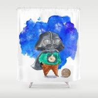 vader Shower Curtains featuring Vader by gunberk