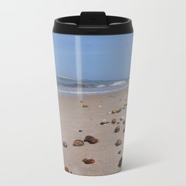 Shiney Stoney Beach - Nairn Scotland - Stones Metal Travel Mug