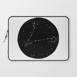 Pisces zodiac star sign constellation art black and white Laptop Sleeve
