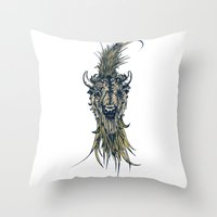 buffalo Throw Pillows featuring Buffalo by Silviu Nica