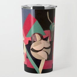 Objects on a Table Travel Mug