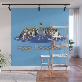 Happy Paw-nukkah! - Happy Hannukah Wall Mural