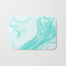 Enoshima - spilled ink abstract painting water ocean japanese wave marble marbling marbled pattern Bath Mat