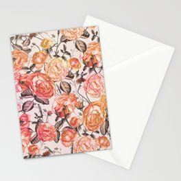 Vintage Floral Watercolor Pattern Stationery Cards