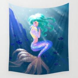 Tropical Mermaid Wall Tapestry