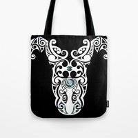 warrior Tote Bags featuring Warrior by Boz Designs