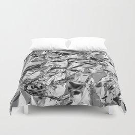 Silver foil Duvet Cover