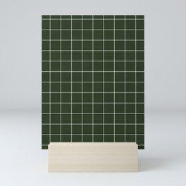 Small Grid Pattern - Deep Green Mini Art Print