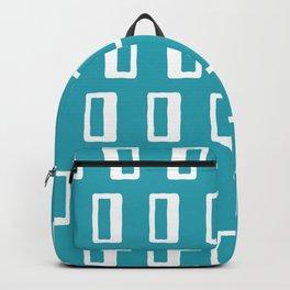 Chad Pattern Turquoise Rucksack