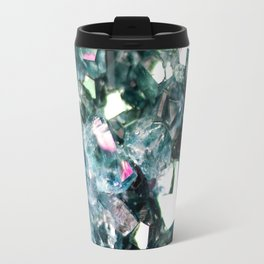 Geode Crystal Turquoise Pink Quartz Travel Mug