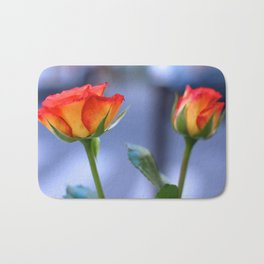 """""""Love planted a rose and the world turned sweet"""" Bath Mat"""