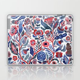 Botanical in red and blue Laptop & iPad Skin