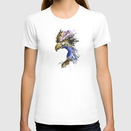 Golden Eagle - Colorful Watercolor Painting T-shirt