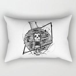 Brook Handmade Drawing, Made in pencil and ink, Tattoo Sketch, Tattoo Flash, Blackwork Rectangular Pillow
