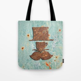Rusty coffee shop sign Tote Bag