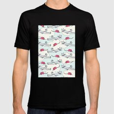 They All Float Mens Fitted Tee MEDIUM Black