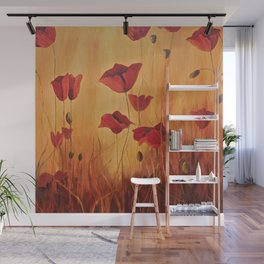 Ellie's poppies Wall Mural
