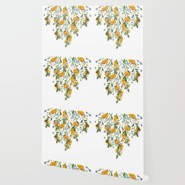 A Bit of Spring and Sushine Trailing Oranges Wallpaper