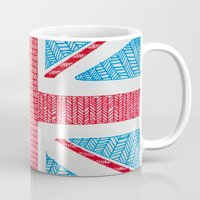 uk Mugs featuring UK Flag by sinonelineman