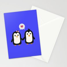 Penguins in love Stationery Cards