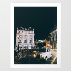 Piccadilly Cirkus by Night Art Print