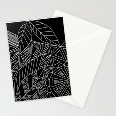Abstract black and white pattern. Orange juice . Stationery Cards