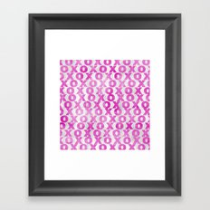 xoxo (hot pink) Framed Art Print