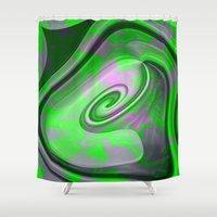 "malachite Shower Curtains featuring "" Malachite ""  by shiva camille"