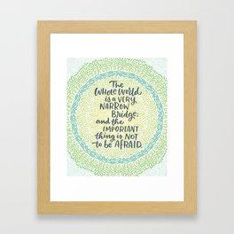 Narrow Bridge Mandala Framed Art Print