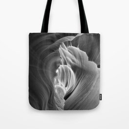 It's Black & White Antelope Canyon Tote Bag