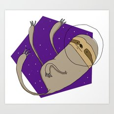 Sloth in Space Art Print