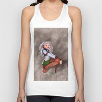 tesla Tank Tops featuring Tesla by Thedustyphoenix