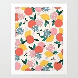 Citrus crush Art Print